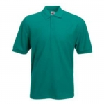 Tricou polo unisex smarald FRUIT OF THE LOOM F22